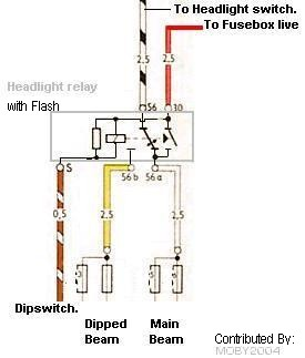 dimmerrly speedy jim's home page, aircooled electrical hints headlight dimmer switch wiring diagram at bakdesigns.co