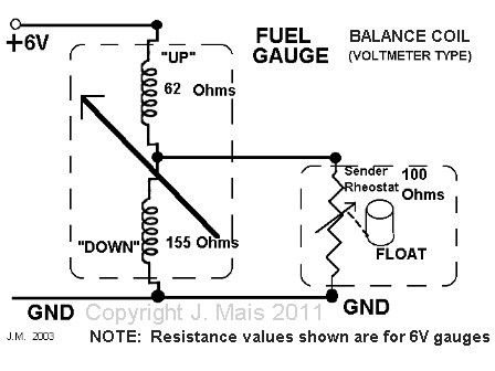 Fuel ga on wiring diagram for a voltage regulator